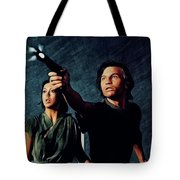 Jenny Agutter And Michael York, Logan's Run Tote Bag