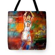 Jeremy Lin New York Knicks Tote Bag by Leland Castro