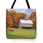 Jericho Hill Vermont Horse Barn Fall Foliage Tote Bag