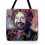 Jerry Garcia Art - The Grateful Dead Tote Bag