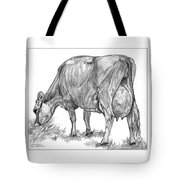 Jersey Milking Cow Tote Bag