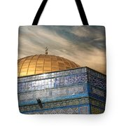Jerusalem - Dome Of The Rock Sky Tote Bag