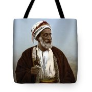 Jerusalem - Sheik Of Palestinian Village Tote Bag