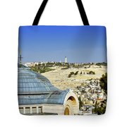 Jerusalem View Tote Bag