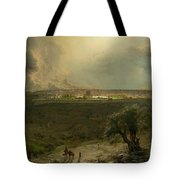 Jerusalem View From The Mount Of Oliv Tote Bag