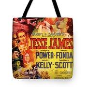 Jesse James 1939 Tote Bag