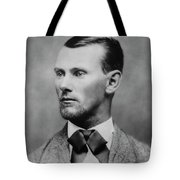 Jesse James -- American Outlaw Tote Bag