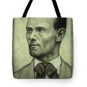 Jesse James Tote Bag by James W Johnson