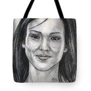 Jessica Alba Portrait Tote Bag