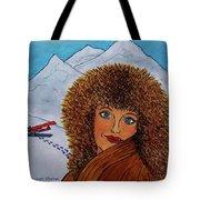 Jessyca And The Plane Tote Bag