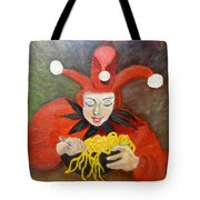 Jester And Spaghetti Tote Bag