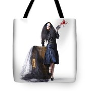 Jester With Wine Barrel Tote Bag by Jorgo Photography - Wall Art Gallery