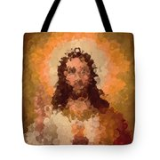 Jesus Abstract Tote Bag