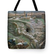 Jesus Alone On The Cross Tote Bag