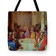 Jesus Among The Doctors Tote Bag