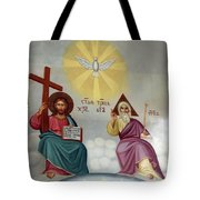 Jesus And Abraham Tote Bag