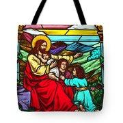 Jesus And Children Tote Bag