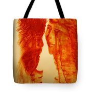 Jesus And Our Lady On Calvary Tote Bag