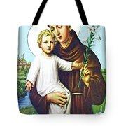Jesus And Saint Anthony Tote Bag