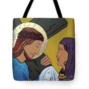 Jesus And Veronica Tote Bag