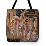 Jesus Arrest And Preparation For Crucifiction Tote Bag