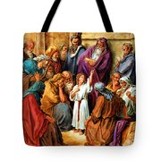 Jesus As A Child Tote Bag