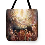 Jesus Ascending Into Heaven Tote Bag by William Brassey Hole