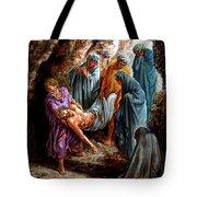Jesus Burial Tote Bag