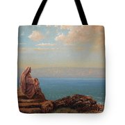Jesus By The Sea Tote Bag