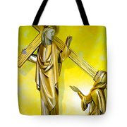 Jesus Carries The Cross Tote Bag