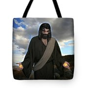 Jesus Christ- And He Withdrew Himself Into The Wilderness And Prayed Tote Bag