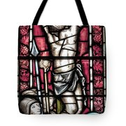 Jesus Christ Crucifixtion Stained Glass Tote Bag