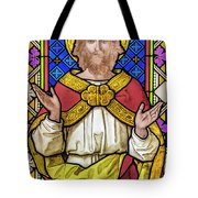 Jesus Christ Stained Glass Tote Bag