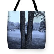 Jesus Christ Tree Cyan Tote Bag