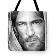 Jesus Face Tote Bag