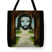 Jesus Face In Vines Tote Bag