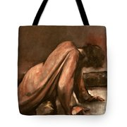 Jesus Falls The First Time Tote Bag