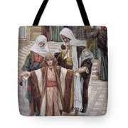 Jesus Found In The Temple Tote Bag by Tissot
