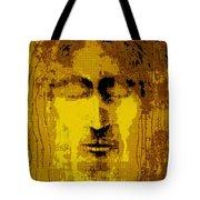 Jesus Image Golden Yellow Tote Bag