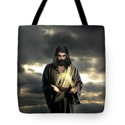 Jesus In The Clouds Tote Bag