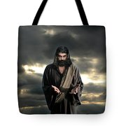 Jesus In The Clouds With Glory Tote Bag