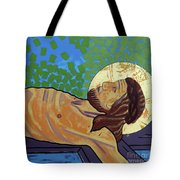 Jesus Is Nailed To The Cross Tote Bag