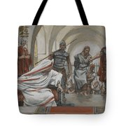 Jesus Led From Herod To Pilate Tote Bag by Tissot