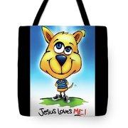 Jesus Loves Me Tote Bag by Shevon Johnson