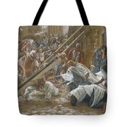 Jesus Meets His Mother Tote Bag