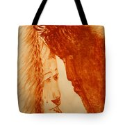 Jesus Meets Mother Mary On The Road To Calvary Tote Bag