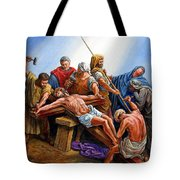 Jesus Nailed To The Cross Tote Bag