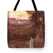 Jesus On The Mount Of Olives Tote Bag by William Brassey Hole