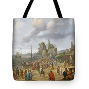 Jesus Preaching On The Shores Of The Sea Of Galilee Tote Bag