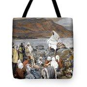 Jesus Preaching Tote Bag